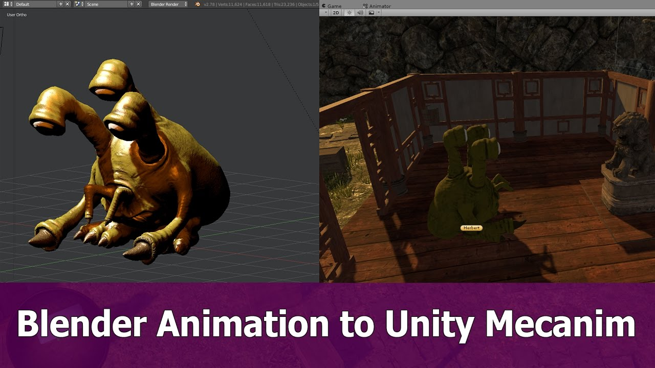 Blender animation to Unity mecanim - BlenderNation