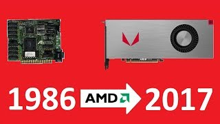 Evolution of AMD 1986 - 2018  graphics cards hi-end