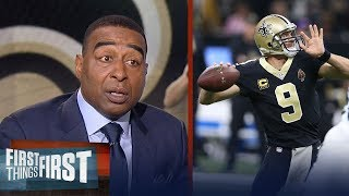 Nick and Cris on the Saints' 31-26 win over the Panthers in the NFL Playoffs | FIRST THINGS FIRST