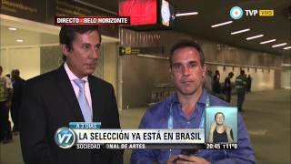 Visión 7 - Brasil 2014: La Selección ya está en Belo Horizonte