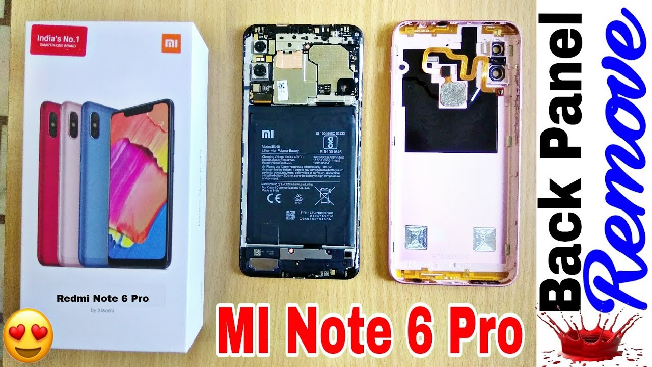 6a683d38069 How to Open Back Cover Redmi Note 6 Pro