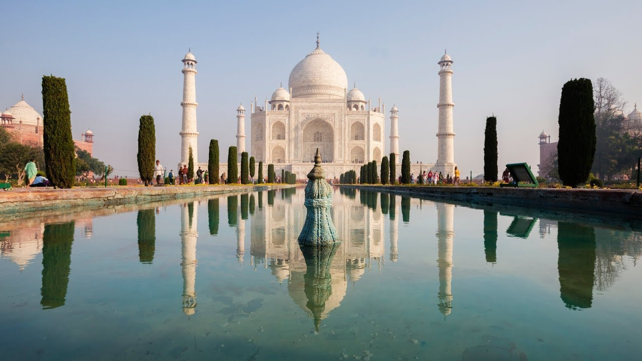 New Seven Wonders In 360 Taj Mahal Youtube
