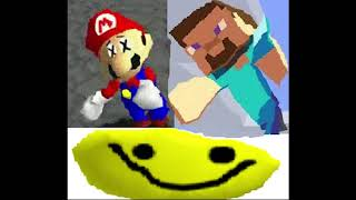 "mario 64, minecraft steve, and roblox all saying ""oof"" at the same time"