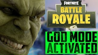 FORTNITE GOD MODE GLITCH TURNS YOU INTO THE HULK!!! FORTNITE SEASON 7
