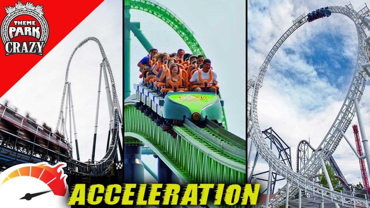 Top 10 FASTEST Roller Coaster Accelerations