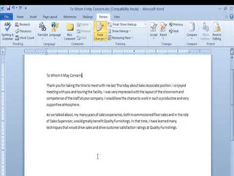 Track Changes And Comments Group in Review Tab Ms Word Video Tutorials in  Hindi - WWW LSOIT COM
