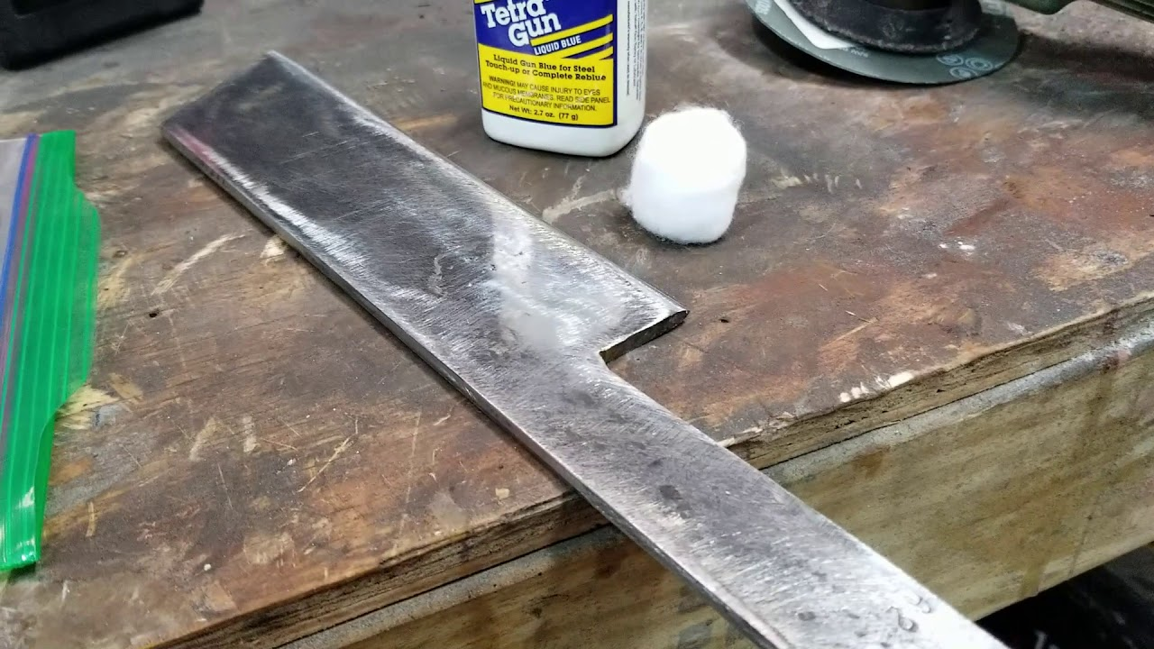 homemade knife from lawn mower blade - YouTube