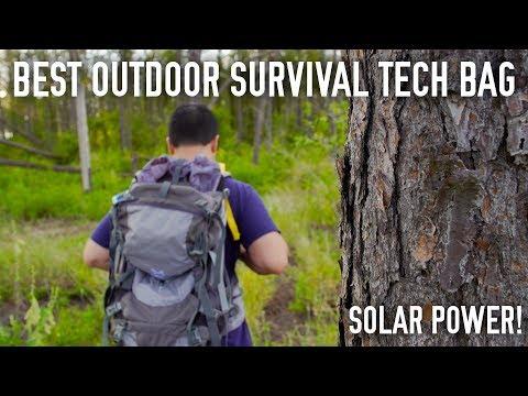 Best Outdoor TECH Survival Bag // Solar Powered!