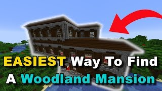 EASIEST Way To Find A Woodland Mansion In Minecraft (Quick Tutorial)