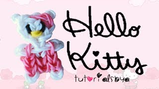 EASY VERSION Hello Kitty Rainbow Loom Charm/Figurine Tutorial