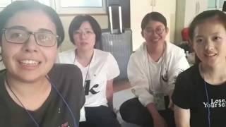 Karina kaj Unika ĉe la Korea Kongreso de Esperanto