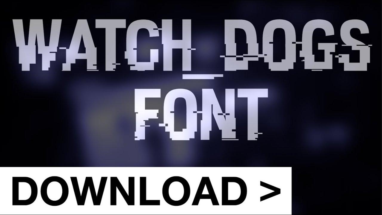 Watch Dogs Glitch Text Type