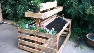 Pallet bench diy youtube