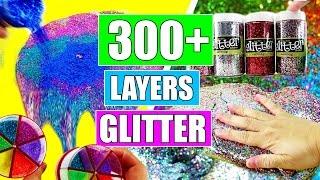 300+ LAYERS OF GLITTER SLIME! DIY Jumbo Glitter Slime!