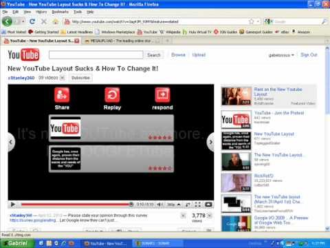 We Hate The New 2010 Youtube Layout Youtube