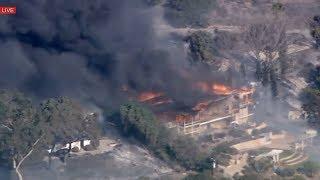 California MASSIVE WILDFIRES in Southern California CreekFire, Evacuation - BREAKING NEWS