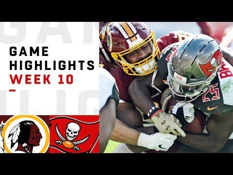 Redskins vs. Buccaneers Week 10 Highlights | NFL 2018