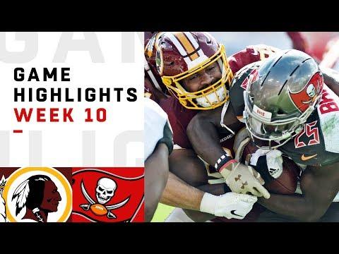 Redskins vs. Buccaneers Week 10 Highlights | NFL 2018