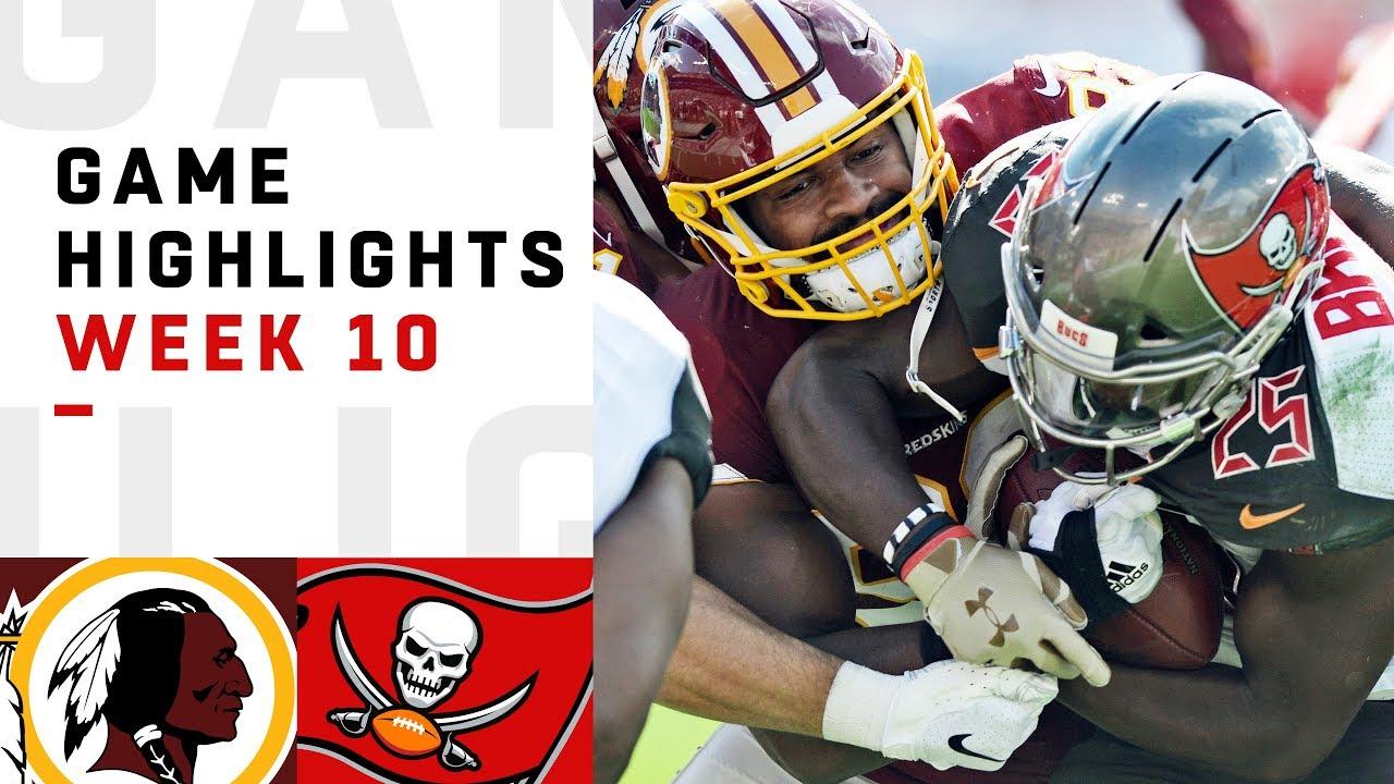 Redskins Vs Buccaneers Week 10 Highlights Nfl 2018 Youtube