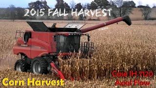 corn harvest case ih 7120 axial flow combine