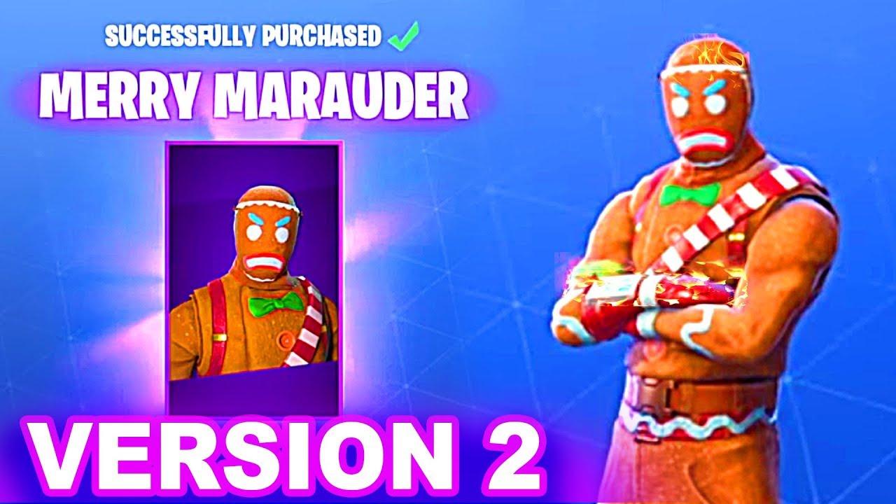 New Fortnite Christmas Skins Confirmed Merry Marauder Version 2