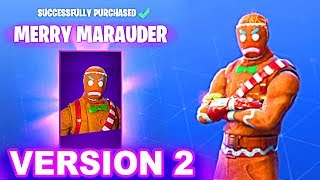 NEW Fortnite Christmas Skins Confirmed... MERRY MARAUDER version 2 (Fortnite Season 7)