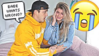 Randomly CRYING Prank On Fiance! *Cute Reaction*