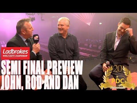 Ladbrokes World Championship Semi final preview and tips - John McDonald, Rod Harrington, Dan Dawson