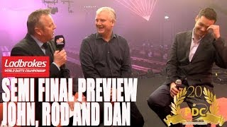 Ladbrokes World Championship Semi final preview and tips - John McDonald, Rod Harrington, Dan Dawson