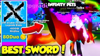 I Got The BEST NEW WEAPON And RAREST INFINITY LEGEND PETS In Ninja Legends Update! (Roblox)
