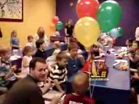 Tyler S Birthday Party At Pump It Up Singing Happy Bday