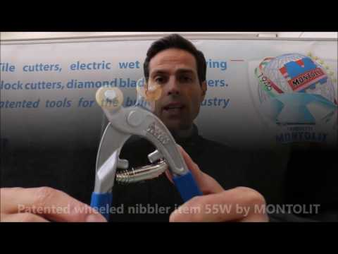 Live Demo Patented Wheeled Nibbler Item 55W for Mosaic Artist and Tile Setter