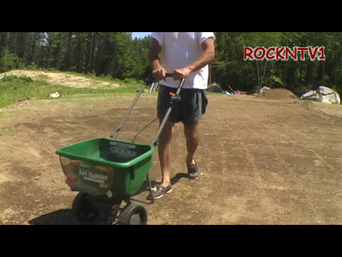 Broadcast Spreader Scotts DLX With Edge Guard YouTube