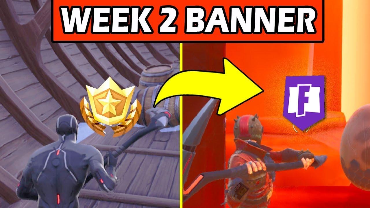 Fortnite battle banner week 2 season 8