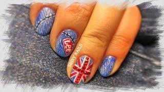 видео английский флаг на ногтях