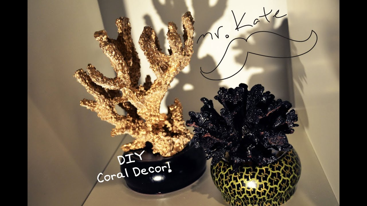 Mr kate diy aquarium coral home decor youtube for Aquarium decoration paint
