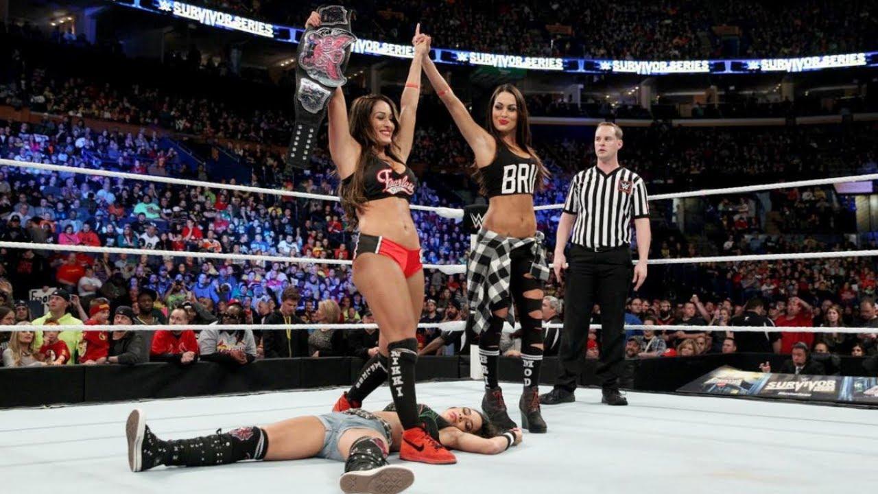 Nikki Bella vs  AJ Lee - Divas Championship Match - Survivor Series 2014