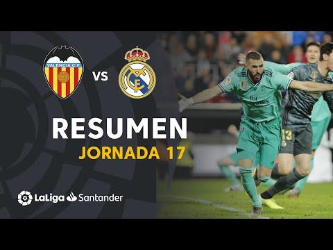 Resumen De Valencia CF Vs Real Madrid (1-1)