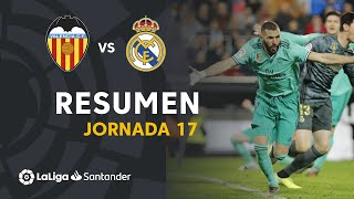 Resumen de Valencia CF vs Real Madrid (1-1)