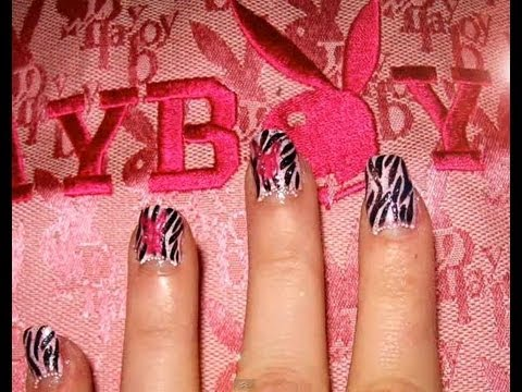 Playboy with zebra stripes nails youtube playboy with zebra stripes nails prinsesfo Image collections
