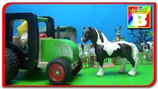 Animalele Domestice si sunetele lor. Tractorul duce la Ferma cu Animale Domestice. Bogdan`s Show.