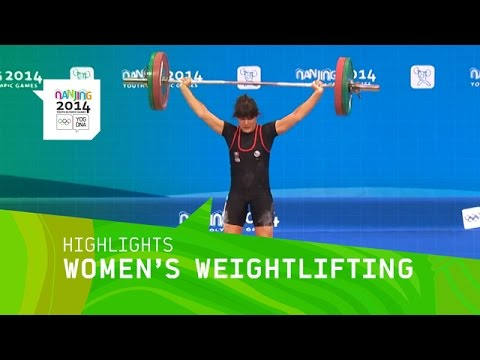 Sara Ahmed Wins Women's Weightlifting 63Kg Gold - Highlights | Nanjing 2014 Youth Olympic Games