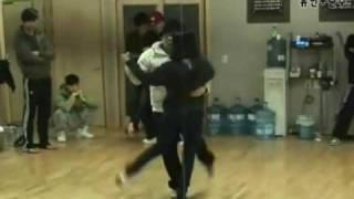 Wonder Girls & 2PM Nobody Tango  rehearsal