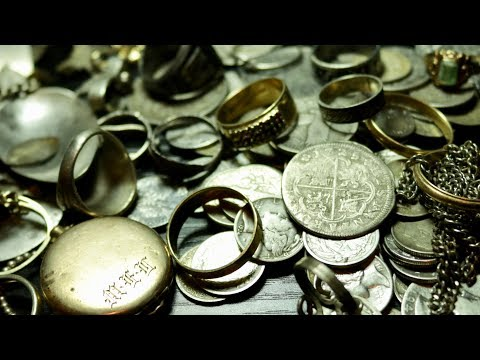 HOW TO CLEAN SILVER COINS, RINGS ETC.