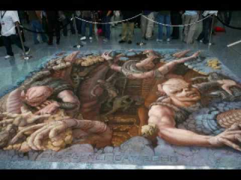 3d street art and murals youtube for 3d mural painting tutorial