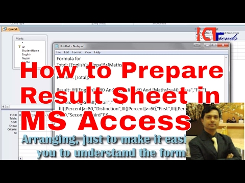 Prepare Result Sheet in MS Access - How to Prepare Result Sheet in MS Access - MCQ Sets