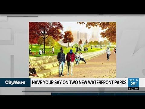 Design of two new waterfront parks up to Toronto residents