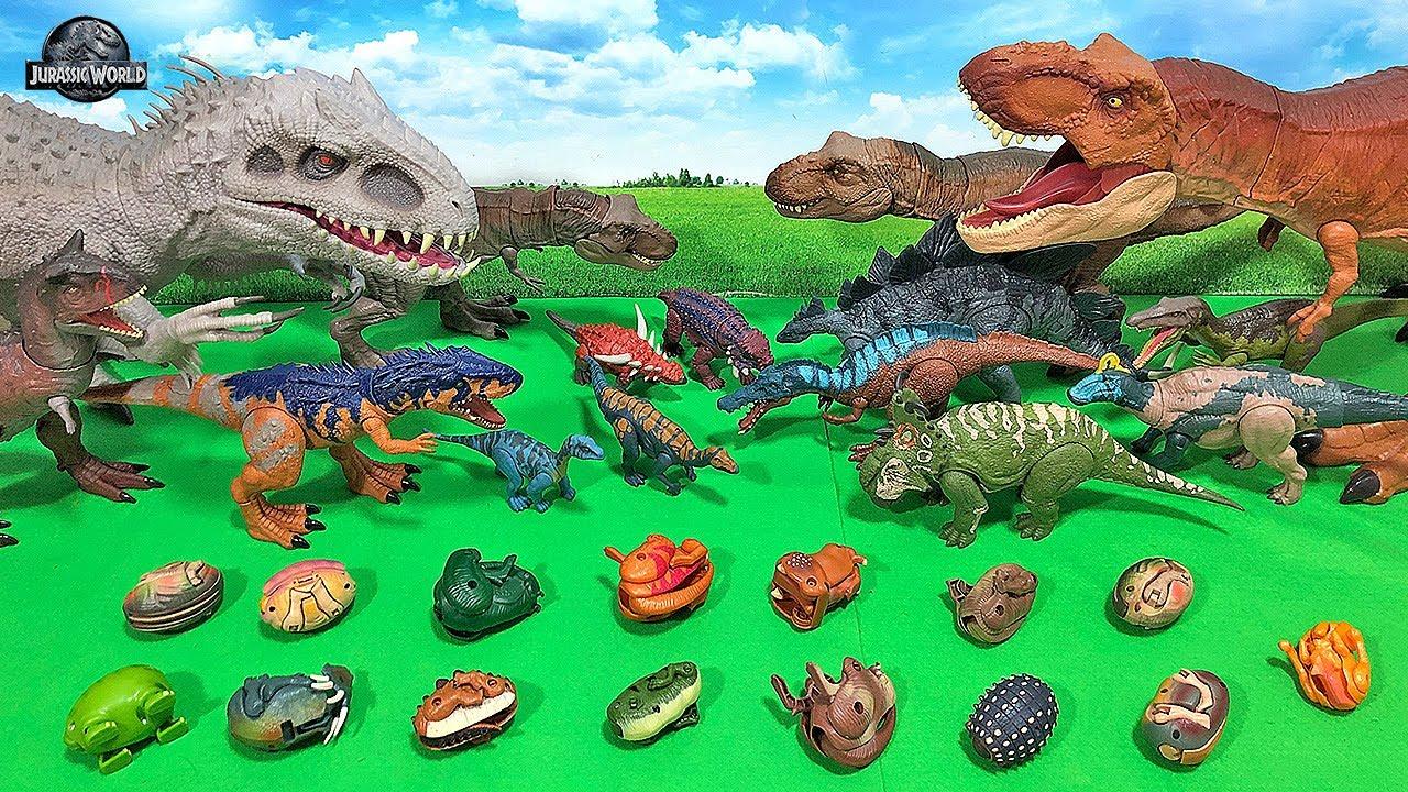 15 NEW JURASSIC WORLD DINOSAURS! Jurassic World Transforming Dino Eggs