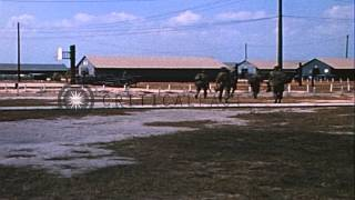 US soldiers of 26th Infantry at 1st Infantry Division Stand Down Center unload co...HD Stock Footage