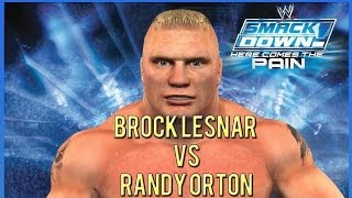 WWE Smackdown | Here Comes the Pain (2013) | Gameplay Brock vs Randy Orton - First Blood Match